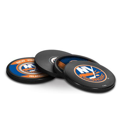 (InGlasco Puck Coasters Pack - New York Islanders)