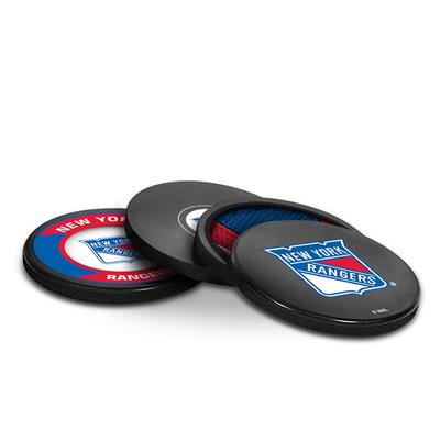 (InGlasco Puck Coasters Pack - New York Rangers)