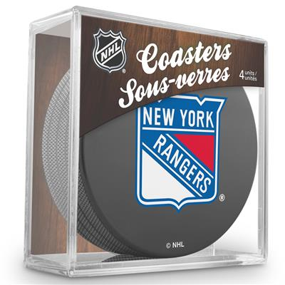 (Sher-Wood Puck Coasters Pack - New York Rangers)