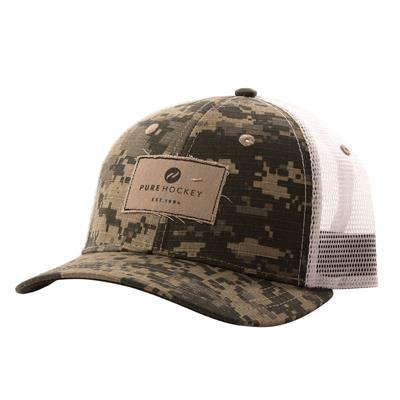 (Pure Hockey Digital Camo Mesh Back Hat)