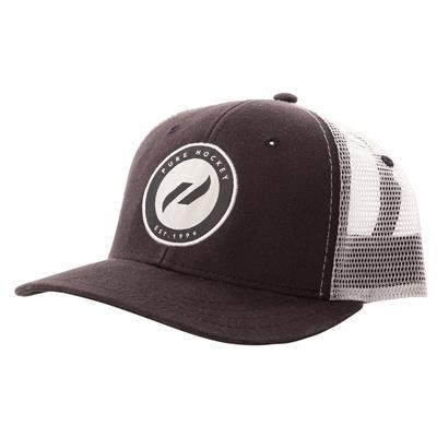 (Pure Hockey Navy/White Mesh Back Hat - Adult)