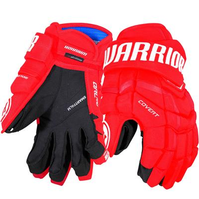 Red (Warrior Covert QRL Pro Hockey Gloves)