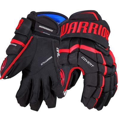 Black/Red (Warrior Covert QRL Pro Hockey Gloves - Junior)