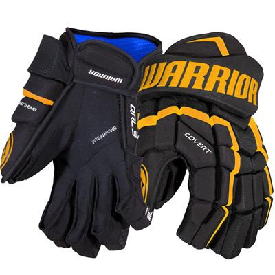Black/Sport Gold (Warrior Covert QRL3 Hockey Gloves)