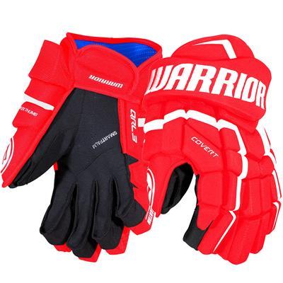 Red/White (Warrior Covert QRL3 Hockey Gloves - Senior)