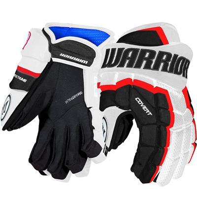 White/Black/Red (Warrior Covert QRL3 Hockey Gloves)