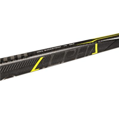 Shaft View (Warrior Alpha QX Grip Composite Hockey Stick)
