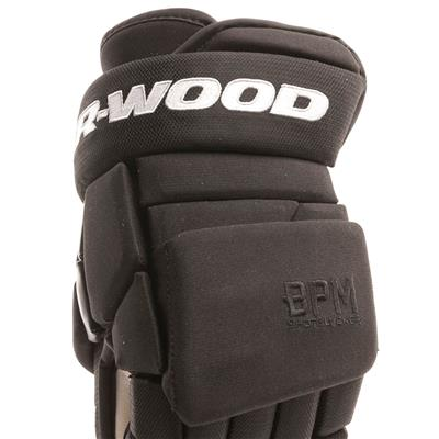 Cuff View (Sher-Wood BPM 120S Hockey Gloves - Senior)