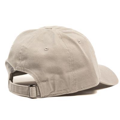 Back View (Pure Hockey Grey/Black Strapback Hat - Adult)