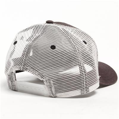 Back View (Pure Hockey Navy/White Mesh Back Hat - Adult)