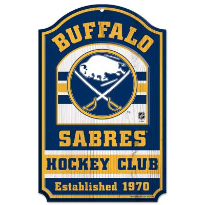"(Wincraft NHL Wood Sign - 11"" x 17"" - Buffalo Sabres)"