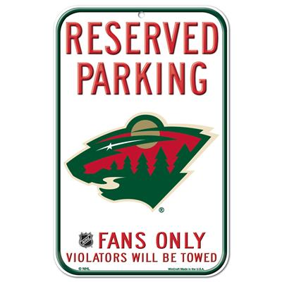 (Wincraft Wincraft NHL Reserved Parking Sign - Minnesota Wild)
