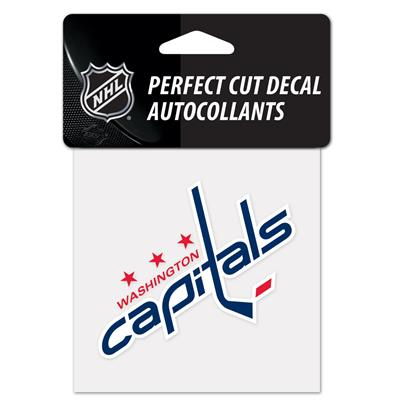 """NHL 4 x 4 Color Decal - WAS (Wincraft NHL Perfect Cut Color Decal - 4"""" x 4"""" - Washington Capitals)"""