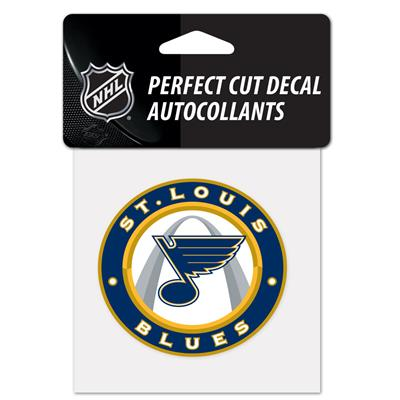 "NHL 4 x 4 Color Decal - STL (Wincraft NHL Perfect Cut Color Decal - 4"" x 4"" - St. Louis Blues)"
