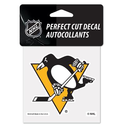 "NHL 4 x 4 Color Decal - PIT (Wincraft NHL Perfect Cut Color Decal - 4"" x 4"" - Pittsburgh Penguins)"