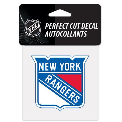 """NHL 4 x 4 Color Decal - NYR (Wincraft NHL Perfect Cut Color Decal - 4"""" x 4"""" - New York Rangers)"""