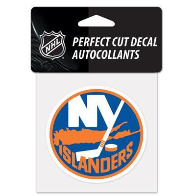 "NHL 4 x 4 Color Decal - NYI (Wincraft NHL Perfect Cut Color Decal - 4"" x 4"" - New York Islanders)"