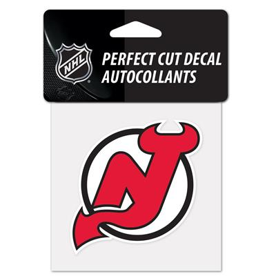 "NHL 4 x 4 Color Decal - NJD (Wincraft NHL Perfect Cut Color Decal - 4"" x 4"" - New Jersey Devils)"