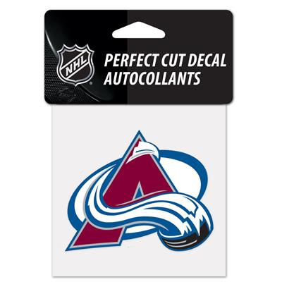 "NHL 4 x 4 Color Decal - COL (Wincraft NHL Perfect Cut Color Decal - 4"" x 4"" - Colorado Avalanche)"