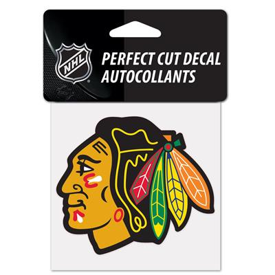 "NHL 4 x 4 Color Decal - CHI (Wincraft NHL Perfect Cut Color Decal - 4"" x 4"" - Chicago Blackhawks)"