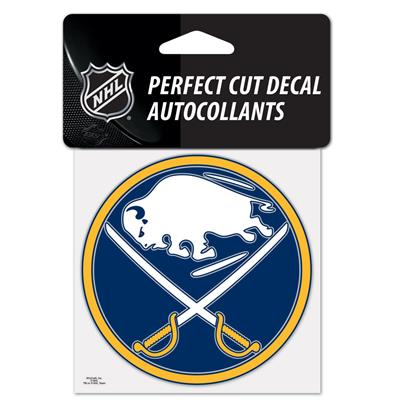 "NHL 4 x 4 Color Decal - BUF (Wincraft NHL Perfect Cut Color Decal - 4"" x 4"" - Buffalo Sabres)"