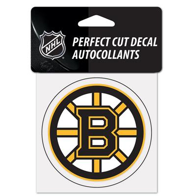 "(Wincraft Wincraft NHL Perfect Cut Color Decal - 4"" x 4"" - Boston Bruins)"