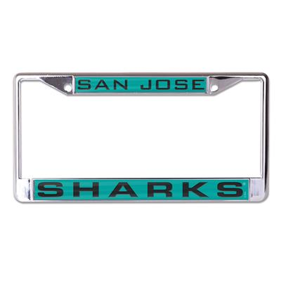 (Wincraft Wincraft NHL Inlaid Metal License Plate Frame - San Jose Sharks)