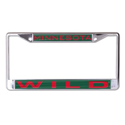 (Wincraft NHL Inlaid Metal License Plate Frame - Minnesota Wild)