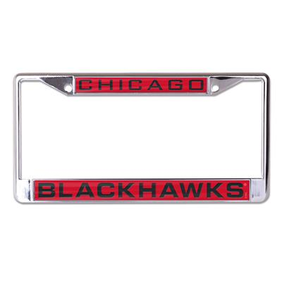 (Wincraft NHL Inlaid Metal License Plate Frame - Chicago Blackhawks)