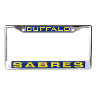 (Wincraft Wincraft NHL Inlaid Metal License Plate Frame - Buffalo Sabres)