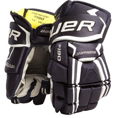 Navy (Bauer Supreme S190 Hockey Gloves - 2017 - Senior)