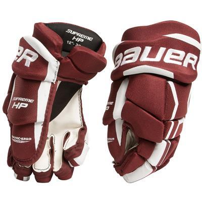 Maroon (Bauer Supreme HP Hockey Gloves)