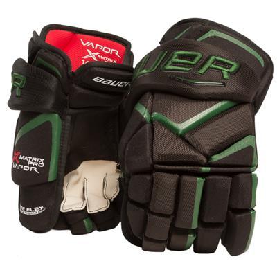 Black/Forest Green (Bauer Vapor Matrix Pro Hockey Gloves - 2017)