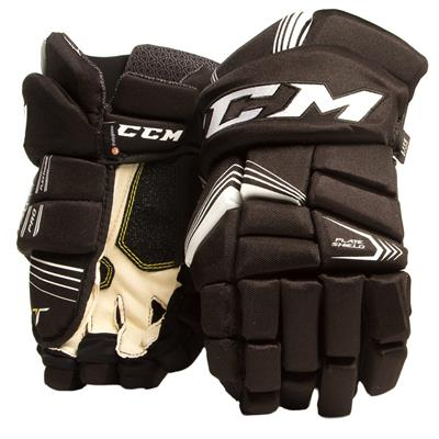 Black/White (CCM Tacks 7092 Hockey Gloves - Junior)