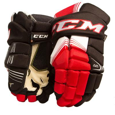 Black/Red/White (CCM Tacks 7092 Hockey Gloves - Senior)