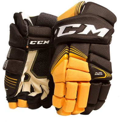 Black/Sunflower (CCM Tacks 7092 Hockey Gloves - Senior)