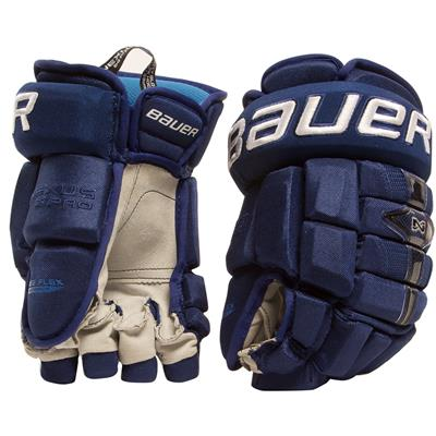 Navy (Bauer Nexus Pro Hockey Gloves 16 - Senior)