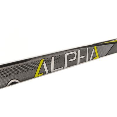 Shaft View (Warrior Alpha QX4 Grip Composite Hockey Stick)