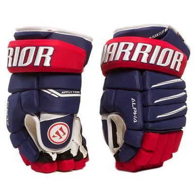 Light Royal/Red/White (Warrior Alpha Pro Hockey Gloves)