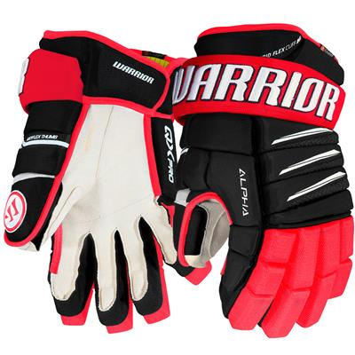 Black/Red/White (Warrior Alpha QX Pro Hockey Gloves - Junior)