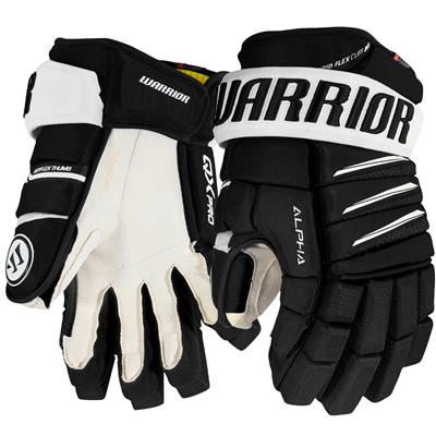 Black/White (Warrior Alpha QX Pro Hockey Gloves - Junior)