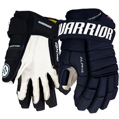 Navy (Warrior Alpha QX Pro Hockey Gloves - Junior)