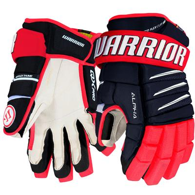 Navy/Red/White (Warrior Alpha QX Pro Hockey Gloves - Junior)