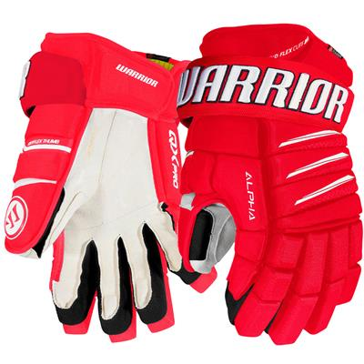 Red/White (Warrior Alpha QX Pro Hockey Gloves - Junior)