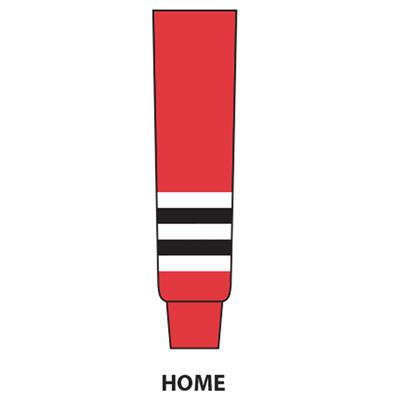 Red (NHL Team Hockey Socks - Chicago Blackhawks - Intermediate)