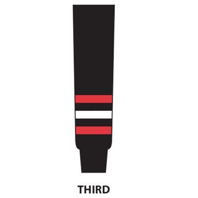 Black (NHL Team Hockey Socks - Chicago Blackhawks - Intermediate)