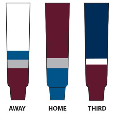 (NHL Team Hockey Socks - Colorado Avalanche)