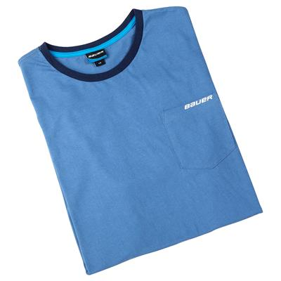 (Bauer Baby Blue Throwback SS Tee)