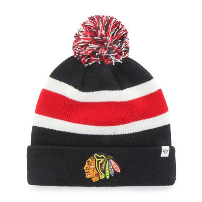 Front (47 Brand Blackhawks Brkwy Knit Hat)