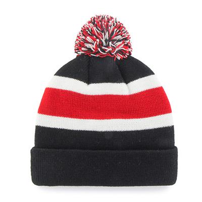 Back (47 Brand Blackhawks Brkwy Knit Hat)